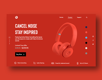 Web Design for Beats Headphone