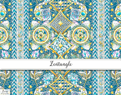 Zentangle Textile Design