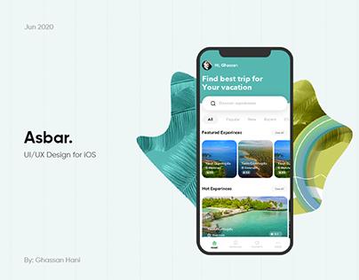 Asbar. UI/UX Design iOS App