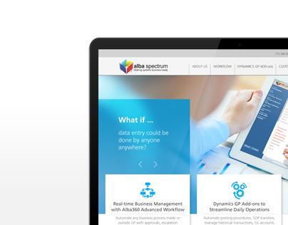 Alba Spectrum Website - UI/UX, Web Design