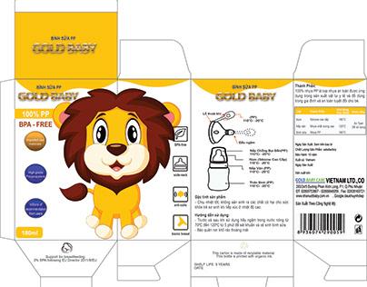 Design Milk Bottle Package Gold Baby