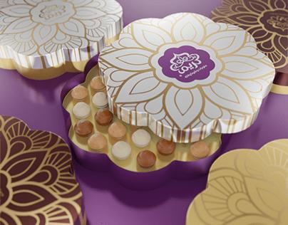Embalagem Chocolates Kareem Sweets