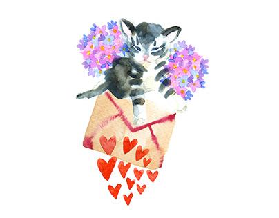 Love letters Servus magazine illustrations