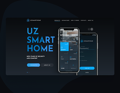 UZSMARTHOME - SECURITY SYSTMES - WebDesign - App
