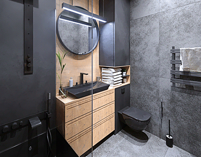 Bathroom 4.2 m2 (apartment 1/3)