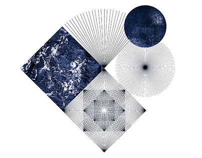 Blue collages / graphic series