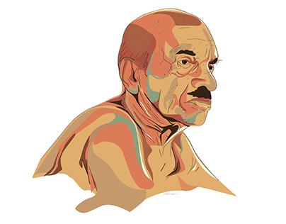 Vaikom Muhammad Basheer Illustration