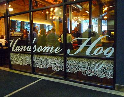 Handsome Hog Branding, Website, Menu, Signage, etc.