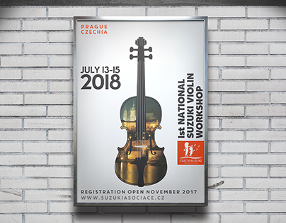 Czech Suzuki Association Violin Workshop Poster