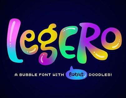 Legero Bubble Font + Doodles