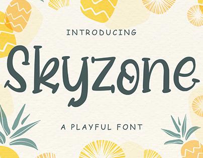 Skyzone - A Playful Font