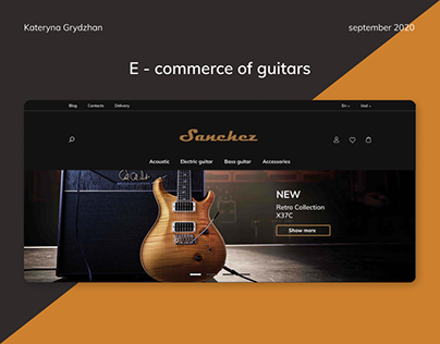 E-commerce of guitars
