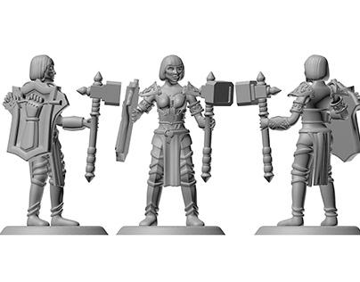 medieval warrior miniature
