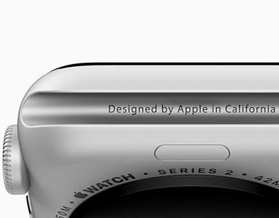 Apple Watch Series 2 - Modeling Texturing Rendering