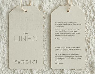 YARGICI - Linen Collection - Hang Tag Design