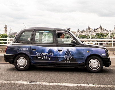 Ad campaign on London Taxi