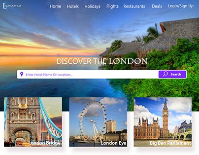 London Air Home Page Design [Tourism]