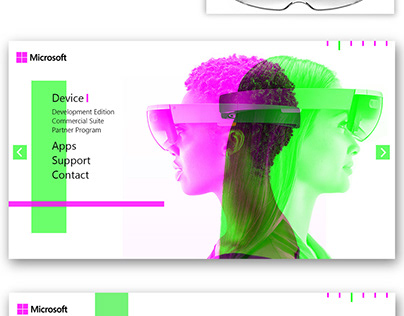Microsoft HoloLens - redesign of promotional page