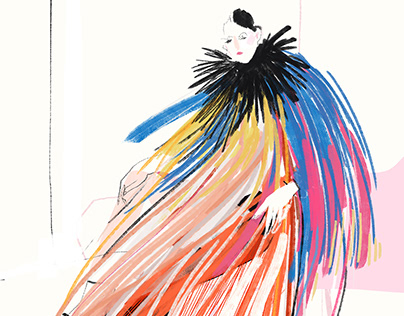 Givenchy Couture fashion illustration