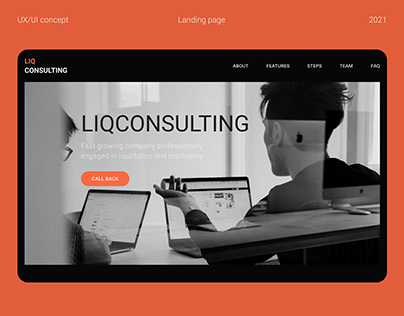 Liqconsulting Landing page