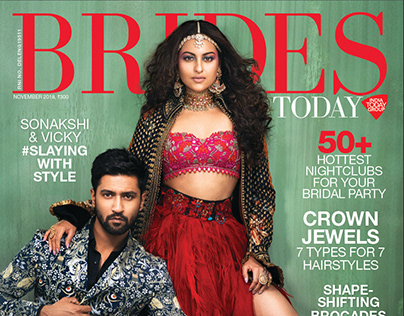 Sonakshi Sinha Vicky Laushal Brides Today Cover Nov.