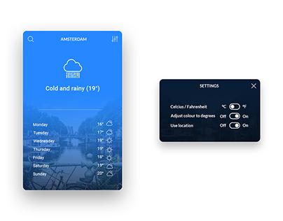 Simple weather widget