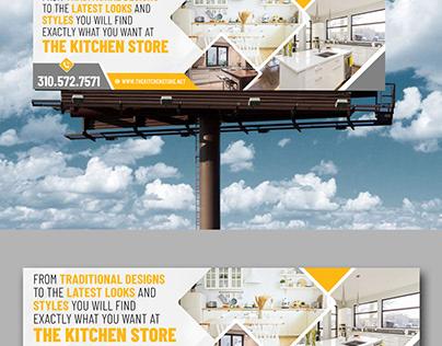 Billboard Design Idea for Kitchen Cabinet Business