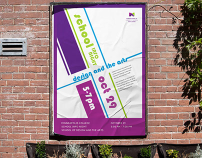Poster: School Info Night Design and the Arts