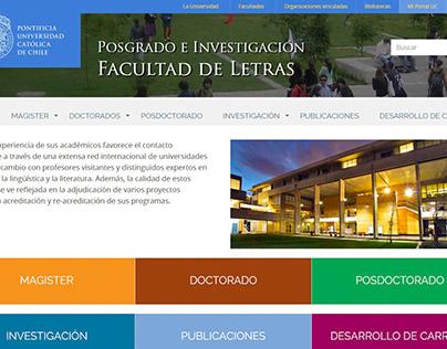 Postgrado Facultad de Letras UC