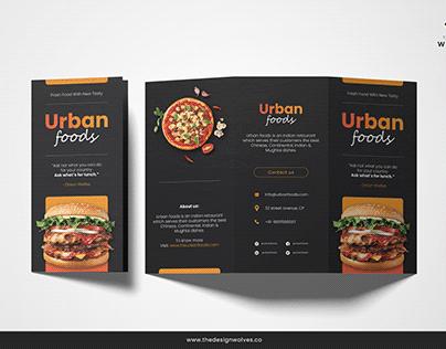 Tri Fold Brochure / Menu Design