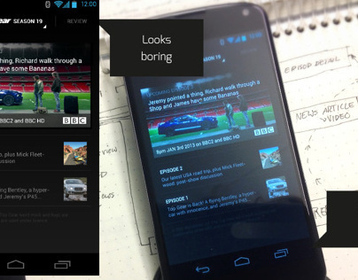 Topgear Android app redesign