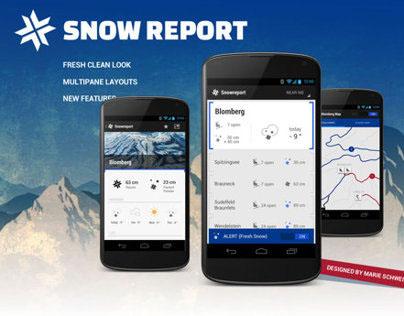 Snow Report redesign