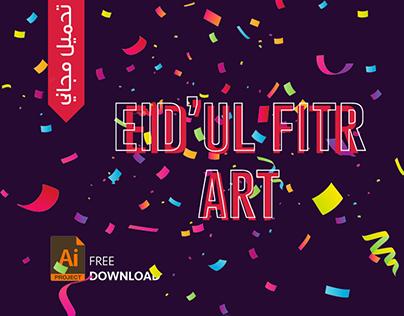 Eid ul fitr greetings + colour palette - free download