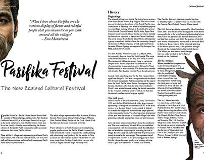 Pasifika Festival magazine layout
