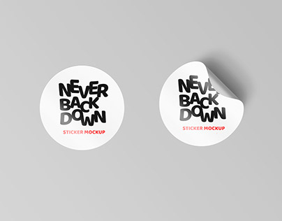 Sticker Mock Up Free