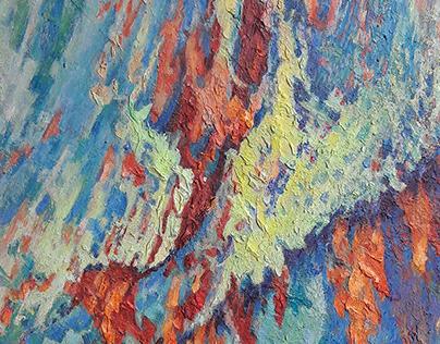 Абстрактная живопись. Серия картин «След кисти»