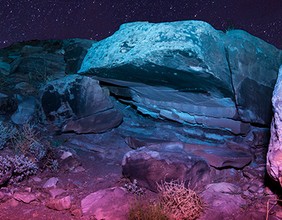 Light Painting - Arches National Park