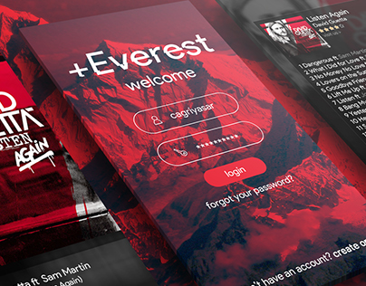 +Everest Mobile App UI UX
