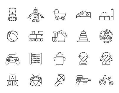 20 Child Vector Icons