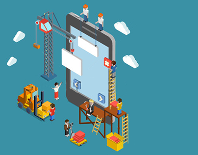Mobile UI UX Design Business Infography