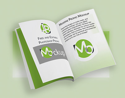 Free Photoshop Mockup - Magazine 8.375in