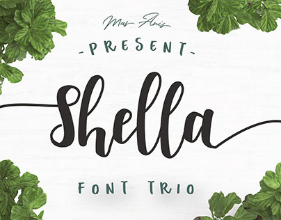 SHELLA FONT TRIO - FREE HANDWRITTEN SCRIPT TYPEFACE