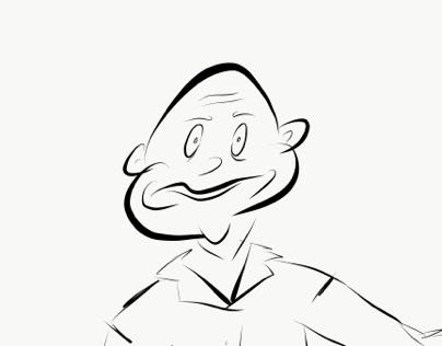 Sketch of stranger