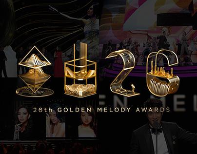 金曲26 Golden Melody Award 2015 Showreel / Main Visual
