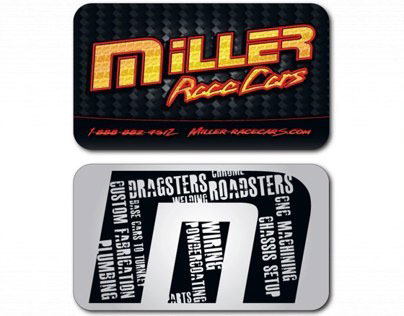 Miller Race Cars Business Card