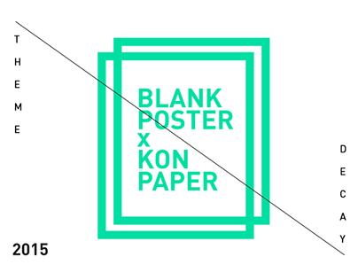 BLANK POSTER x KON PAPER