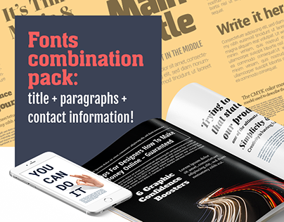 Fonts combinations pack