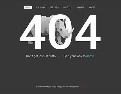 404 rhino template.