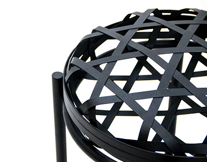 WEAVE : stool with motif of the 'Jukbuin'