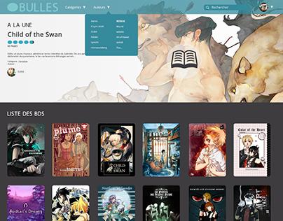 Webcomics website interface